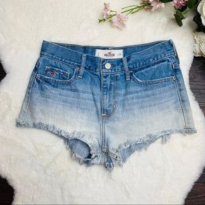 Hollister Distressed Ombre Jean Shorts